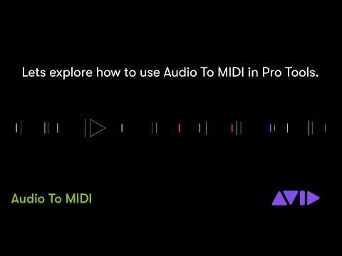 New in Pro Tools 2020 — Audio To MIDI