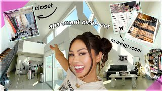 extreme apartment clean out 2021 *makeup room, closet, apartment cleaning* | Roxette Arisa