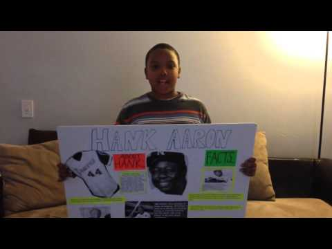 Hank Aaron school project
