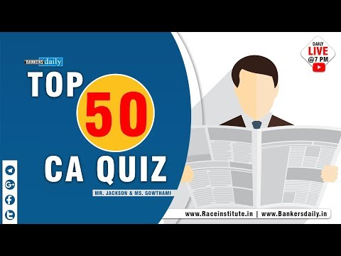 TOP 50 CA Quiz | Canara Bank PO | Mr.Jackson & Ms.Gowthami