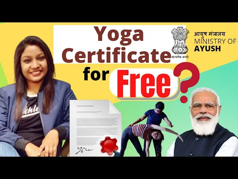 Get FREE Yoga certificates from The Yoga Certification Board   Ministry of AYUSH    हिंदी में