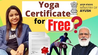 Get FREE Yoga certificates from The Yoga Certification Board | Ministry of AYUSH || हिंदी में