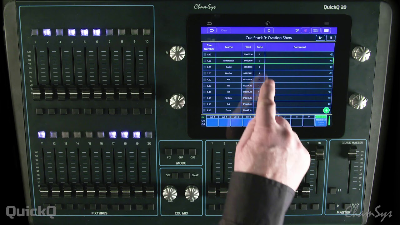 QuickQ: How to Control with Midi Timecode