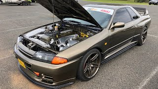 He put a FORD BARRA in a SKYLINE GTR?!