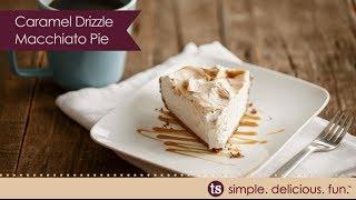 Caramel Drizzle Macchiato Pie