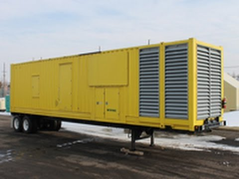 2000 KW Baldor Diesel Generator – Mobile Power Module, Low-Hour Used