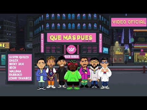 descargar Que mas pues remix sech justin quiles maluma feat nicky jam farruko dalex lenny tavarez