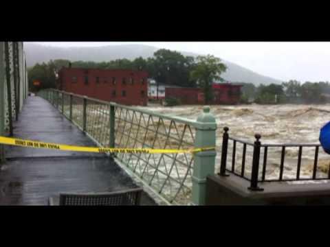 Shelburne Falls, MA. Hurricane Irene.