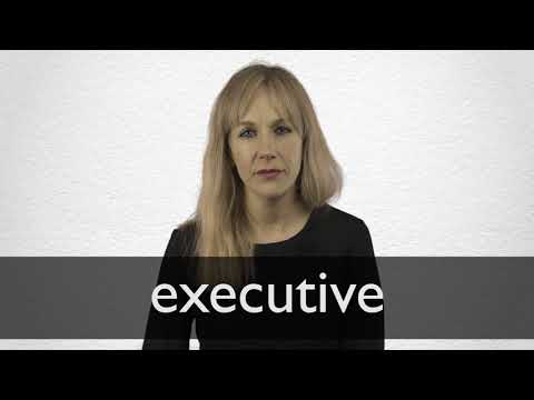 How to pronounce EXECUTIVE in British English