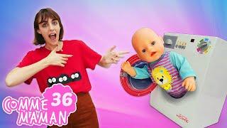 Vidéo pour enfants. 'Comme maman' - nouvel épisode 36. Bébé born Emile et le grand lessive