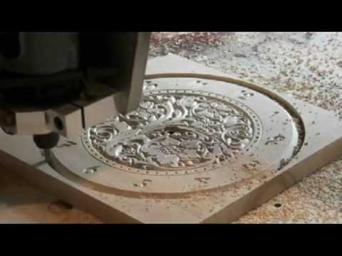Vbit carving with home made cnc router and Mach softw