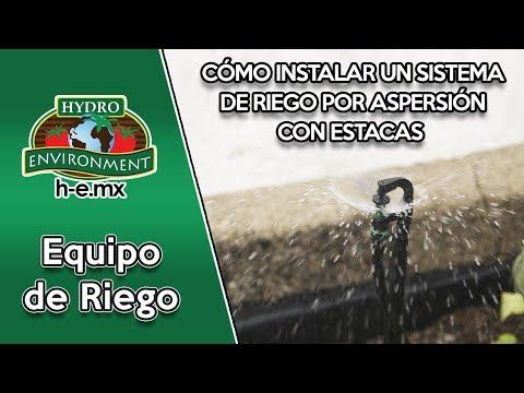 Cómo instalar un sistema de riego por aspersión con estacas