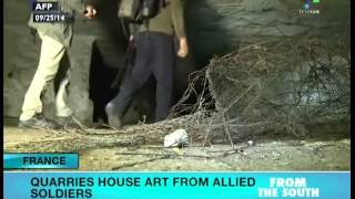 WWI soldiers artwork found in French quarries