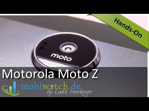 Motorola Moto Z Hands-on-Video: Details und erste Test-Ergebnisse der Superflunder