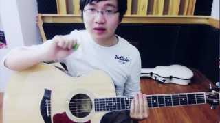 Guitar Lesson 02 - Blue - Big Bang [Đoạn dạo, hợp âm và điệu đệm]