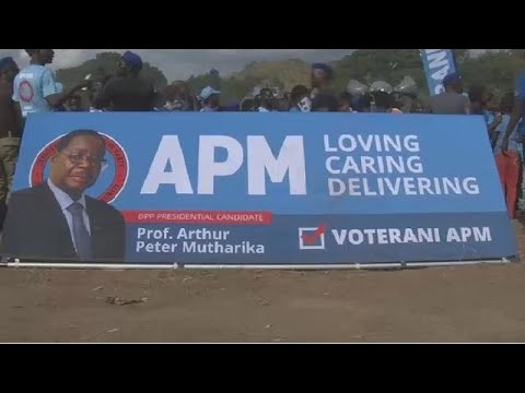 Malawi's president holds final rally ahead of elections
