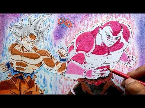 Como Dibujar A Goku Mastered Ultra Instinct Vs Jiren 100 La