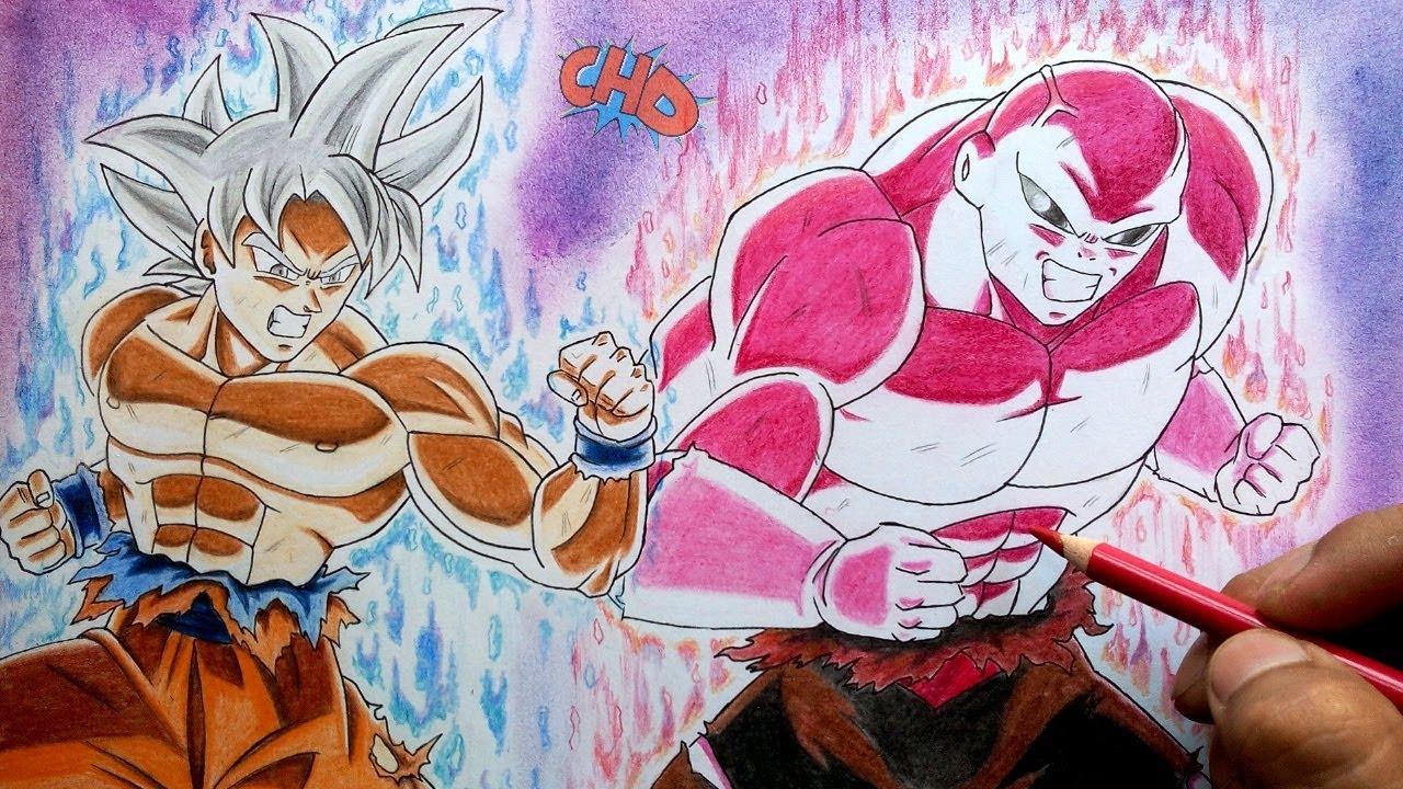 Cómo Dibujar A Goku Mastered Ultra Instinct Vs Jiren 100 La Batalla De Supervivencia Definitiva