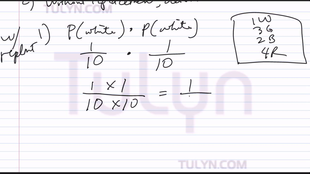 probability of dependent events drawing two marbles