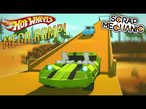 HOT WHEELS MEGA RAMP & PISTON CAR LIFT! - Scrap Mechanic Gameplay Piston Update