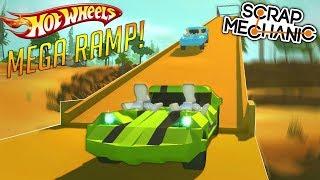 HOT WHEELS MEGA RAMP & PISTON CAR LIFT! - Scrap Mechanic Gameplay Piston Update