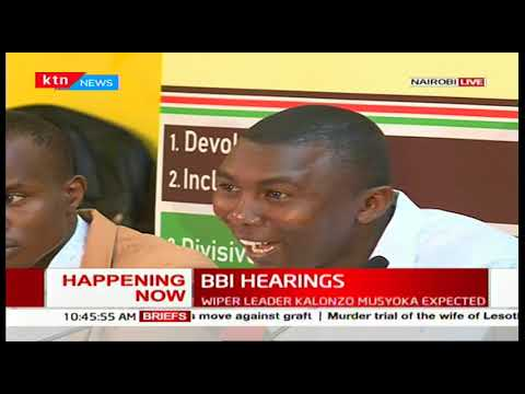 Kenyan youths present their views to BBI task-force, want internship made mandatory
