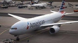 American Airlines Boeing 777-200ER - Pushback/Taxi/Takeoff at Frankfurt