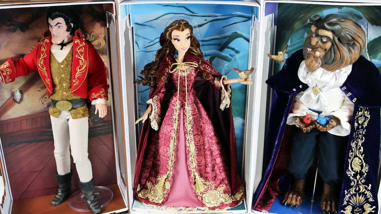 Disney Limited Edition Designer Dolls Belle, The Beast and ...