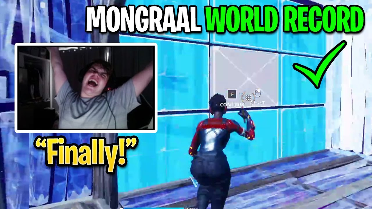 Mongraal BREAKS World's Fastest TUNNEL Record By Editing w/ INSANE Speed for a Long Period of Time!