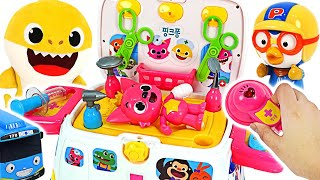 PinkfongPororo Is Hurt Go Pinkfong Ambulance Hospital Play PinkyPopTOY