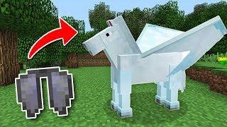 как сделать летающую лошадь в майнкрафт