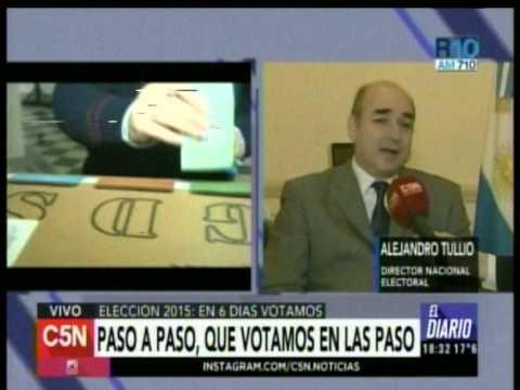 C5N - Eleccion 2015: Di Tullio explica las claves de los comicios