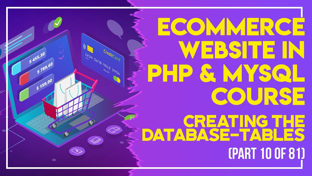 E-Commerce website in PHP & MySQL in Urdu/Hindi part 10 creating the  database-tables