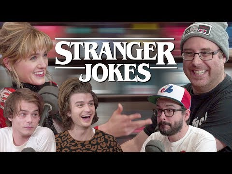 STRANGER JOKES ft. Charlie Heaton, Natalia Dyer & Joe Keery