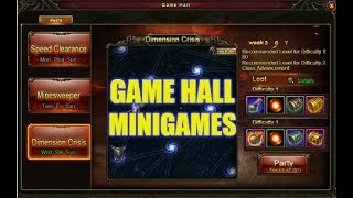 Wartune :- Game Hall Minigames (Speed Clearance, Minesweeper And Dimension Crisis)