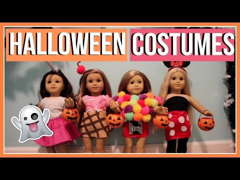 HALLOWEEN COSTUMES | What My American Girl Dolls Wore For Halloween! 2016 | DIY Halloween Costumes