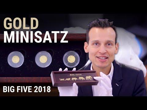 Gold Minisatz - Big Five 2018 - Nur 1.000 Stück