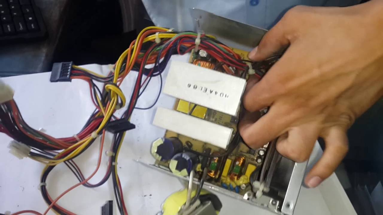 How to Disassembles PC SMPS and Fan - YouTube