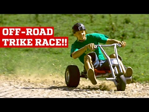 OFF-ROAD DOWNHILL TRIKE RACE!   PEOPLE ARE AWESOME
