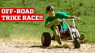 OFF-ROAD DOWNHILL TRIKE RACE! | PEOPLE ARE AWESOME