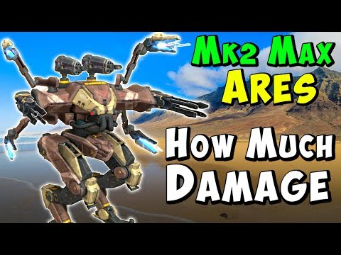 Mk2 Max ARES Experiment: How Much Damage? War Robots Gameplay WR