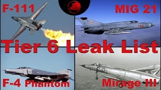 Tier 6 Jets Leak List - War Thunder - Gamescom 2019