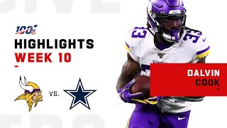 Dalvin Cook Runs Over Dallas w/ 183 Total Yds & 1 TD | NFL 2019 Highlights