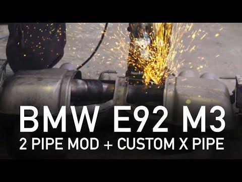BMW M3 E92 OEM Exhaust Mod + Custom X-pipe (Step by step)