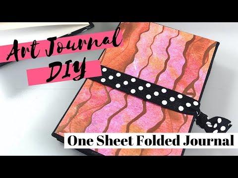 DIY One Sheet Folded Watercolor Art Journal