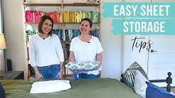 How To Store Sheet Sets (A Hack!)