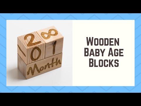 Time Lapse - Laser Engraving Wooden Baby Age Blocks - Blacklist Prints Mackay
