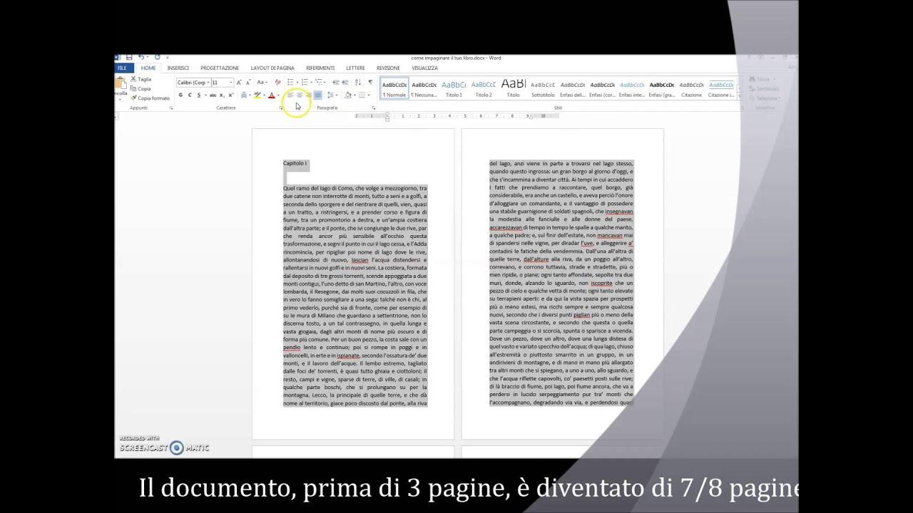 Estremamente Video Tutorial: come Impaginare il proprio Libro con Word  CS43