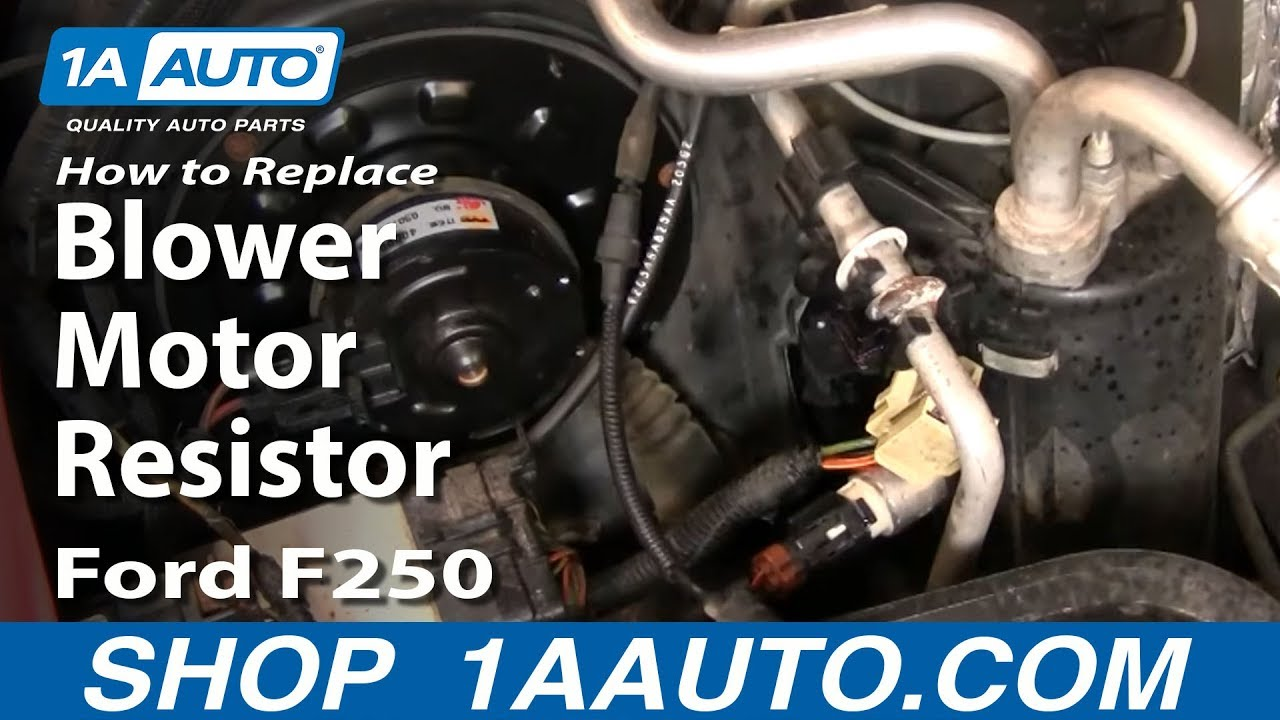 How to Replace Blower Motor Resistor 9907 Ford F250 Super Duty Truck  YouTube