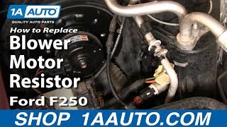 How to Replace Blower Motor Resistor 99-07 Ford F250 Super Duty Truck -  YouTube | Ford F 350 Blower Motor Wire Diagram |  | YouTube